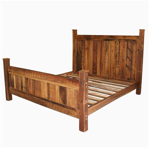 style bed frames buy a handmade cabin style reclaimed wormy chestnut bed