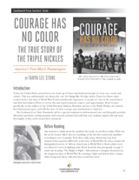 courage color guide courage has no color the true story of the nickles