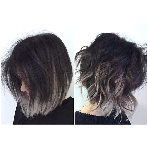 black grey hair do this with purple or blue looking for hair