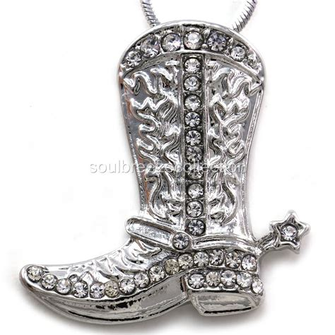 western pendants for jewelry lucky western cowboy boots pendant