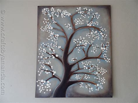 crafts for with paint white cherry blossom tree painting crafts by amanda