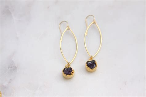 druzy stones for jewelry amethyst druzy earrings reija jewelry