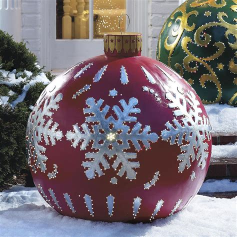 large lighted outdoor ornaments outdoor decorations presents home design