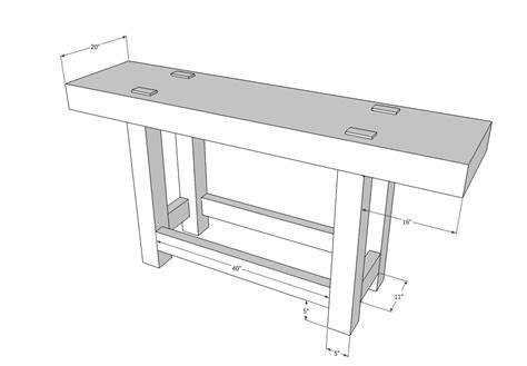woodworking bench dimensions workbenches balancing the base and top