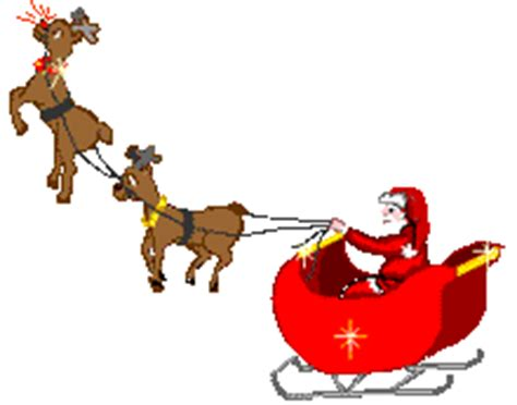 moving santa claus cliparts rudolph free clip free