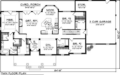 Single Level House Plans rectangle single level house plans first floor plan of