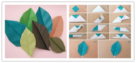 how to make crafts from paper how to make paper craft origami leaves how to