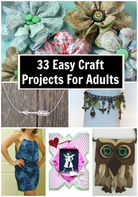 cool craft projects for adults 44 easy craft projects for adults crafts projects and