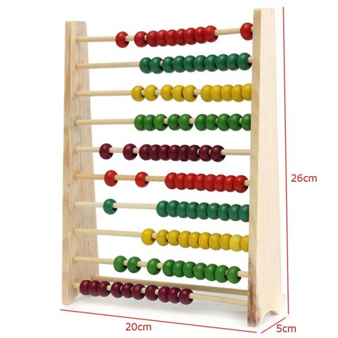 abacus counting 10 wooden abacus counting number preschool kid math