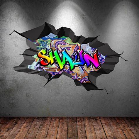 Childrens Large Wall Stickers graffiti personnalis 233 personnalis 233 nom art mural stickers