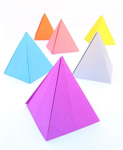 paper pyramid craft activities creative and origami on