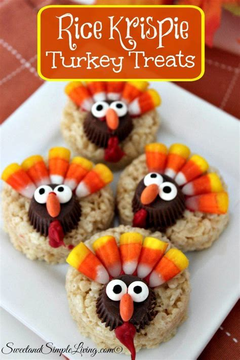 Home Made Halloween Decorations rice krispie turkey treats sweet and simple living