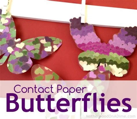 contact paper crafts for toddlers butterflies archives activities saving money