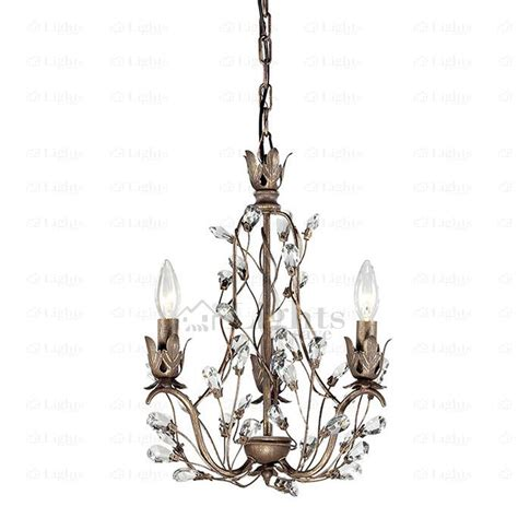 antique 3 light twig type small vintage chandelier