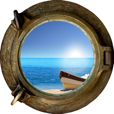 Wall Murals Stickers huge 3d porthole exotic beach view wall stickers film