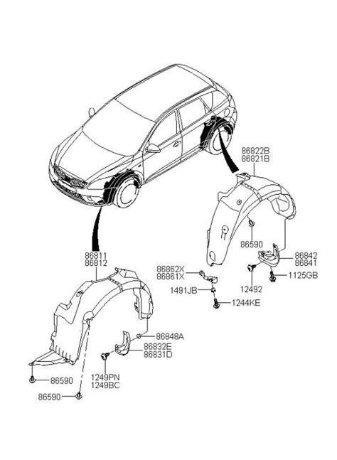 Kia Parts by Car Kia Sportage Parts Diagram Car Free Engine Image For
