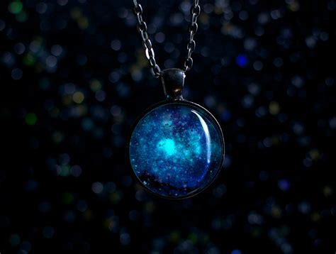 glow in the glow in the galaxy necklace