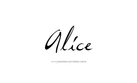 alice name tattoo designs