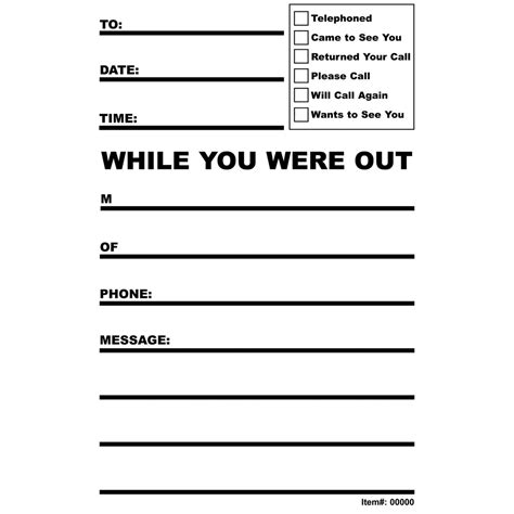 while you were out maxiaids bold print while you were out notes 3 pads of 50