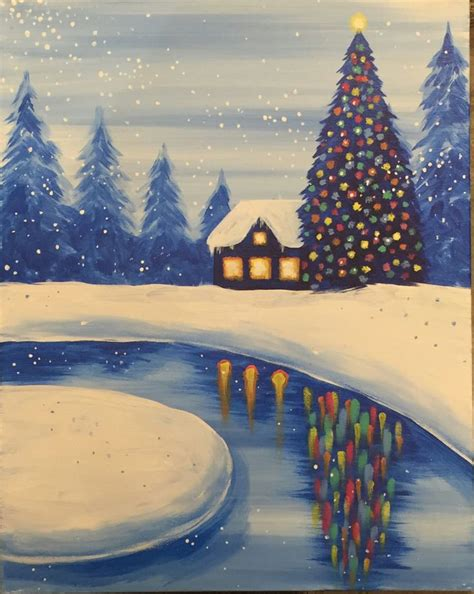 paint nite livermore 1000 ideas about winter painting on on