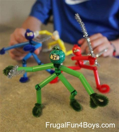craft projects for boys pipe cleaner ninjas frugal for boys and