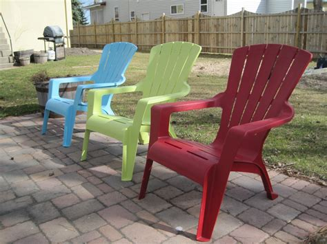 Colored Plastic Adirondack Chairs by Adirondack Chair Makeover Tutorial Plastic Adirondack Chairs