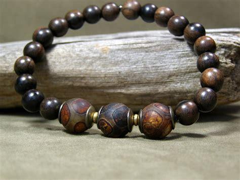 mens wood bead bracelet mens beaded bracelet wood bracelet mens jewelry mens