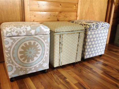 styrofoam craft projects macgirlver more styrofoam coolers made into ottomans
