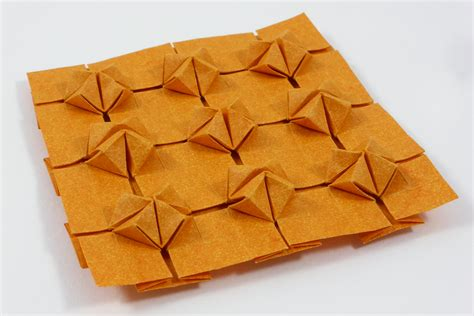 origami tessellations cluster tessellation by michał kosmulski crease pattern