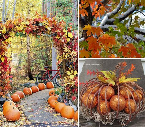 ideas for fall outdoor decor for fall house experience