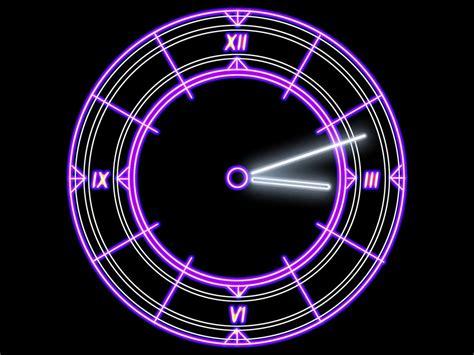 futuristic clock luminescent clock screensaver cool radiant futuristic