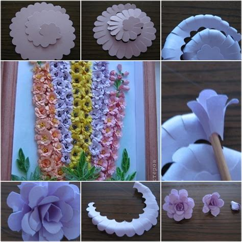 how to make craft paper flowers how to make beautiful quilling paper flower wall fab