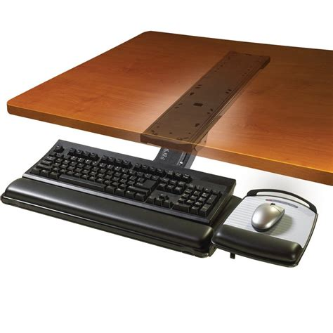 keyboard desk mount 3m akt180le adjustable desk mount ergonomic keyboard tray