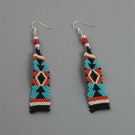 beaded earrings american american tapestry beaded earrings flickr photo