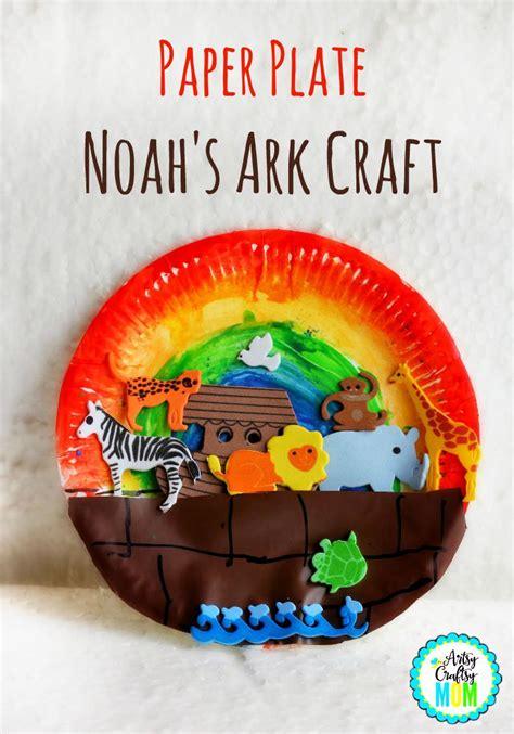 paper plate bible crafts paper plate noah s ark craft bible activities bible