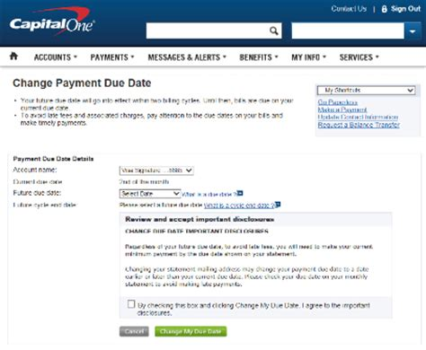 capital one credit card make a payment how to change credit card due dates at each bank