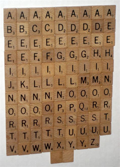 scrabble letter replacement sold 100 wood scrabble replacement tiles set