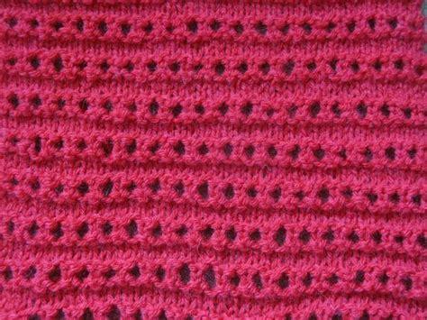 eyelet knit stitch easy knitting stitches