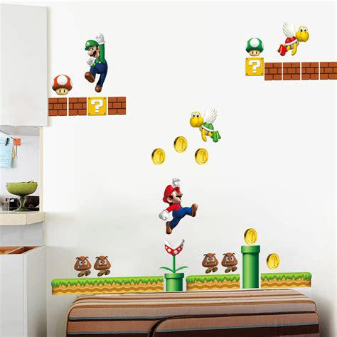 mario wall sticker popular mario wall stickers buy cheap mario wall stickers