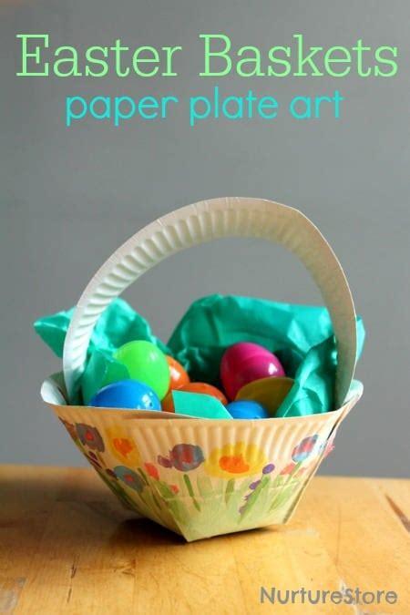 crafts to make with paper plates paper plate easter basket craft nurturestore