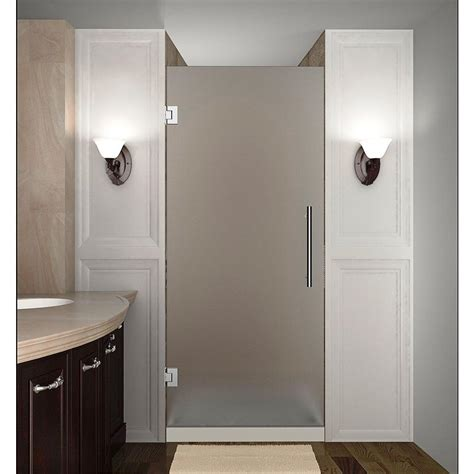 opaque shower doors aston cascadia 30 in x 72 in completely frameless hinged