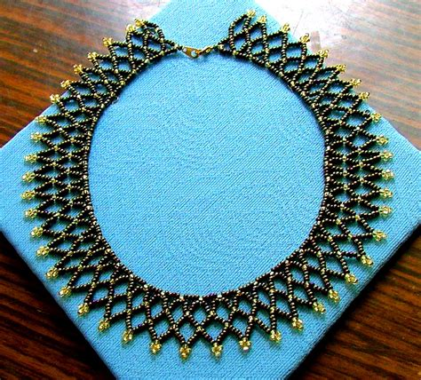 free beading patterns seed free easy pattern for preatty beaded necklace bronze age