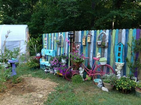 funky garden ideas fence panels funky junk outdoor livin