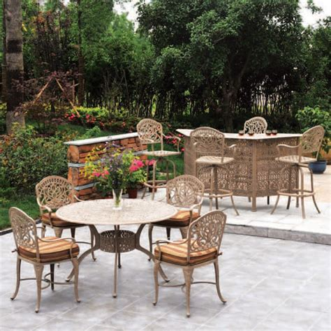 tuscany patio furniture the tuscany outdoor patio dining set hanamint family leisure