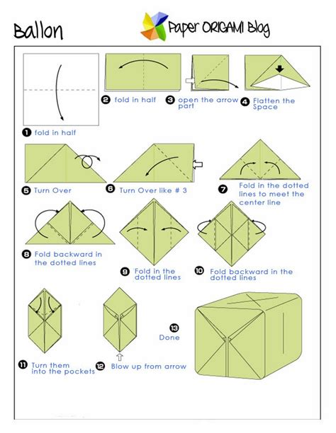 how to make an origami balloon origami a balloon paper origami guide
