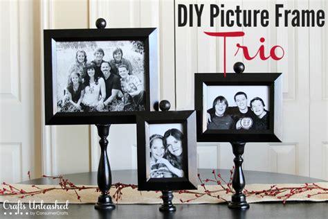 diy picture frame trio on pedestals crafts unleashed