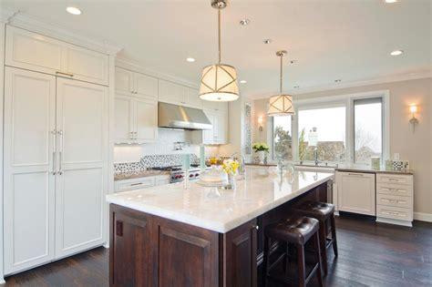 white kitchen wood island photo page hgtv