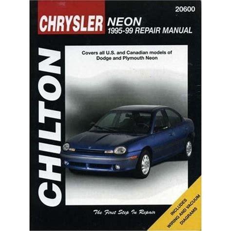 hayes car manuals 1999 dodge neon auto manual 1995 1999 dodge neon chilton paper repair manual northern auto parts