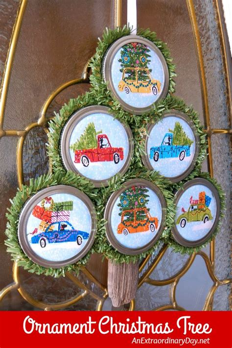 easy to make tree easy to make ornaments with jar lids