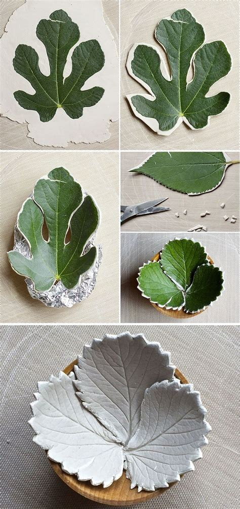 air clay projects crafts diy leaf bowls made from air clay hello how about
